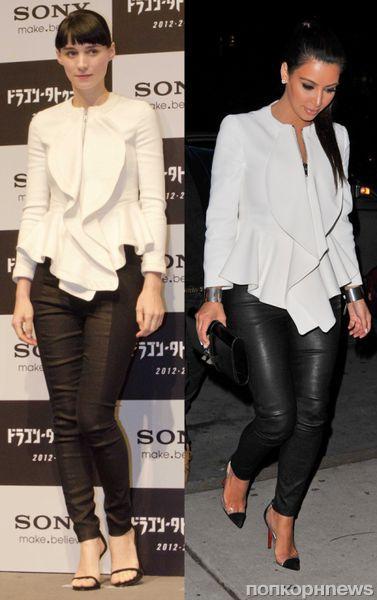 Fashion battle: Руни Мара и Ким Кардашиан