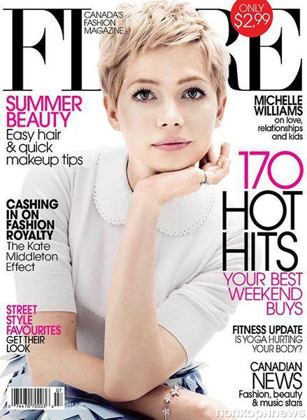 Мишель Уильямс в журнале Flare. Июль 2012