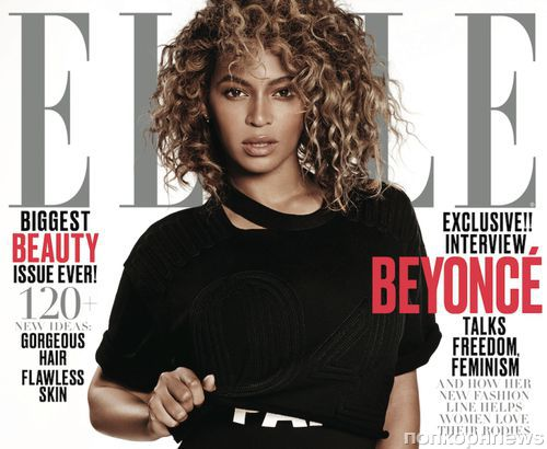 Бейонсе на обложках журнала Elle. Май 2016