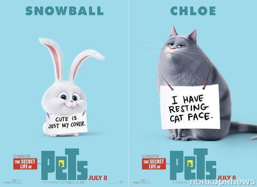 В Сети появились новые характер-постеры к мультфильму «Тайная жизнь домашних животных»