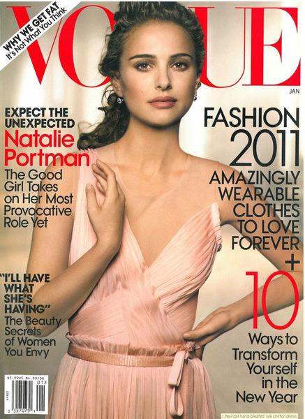 Натали Портман в журнале Vogue. Январь 2011