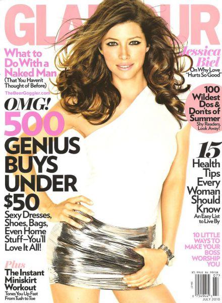 Джессика Бил в журнале Glamour. Июль 2010