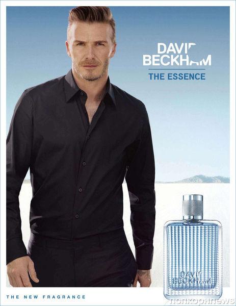 Дэвид Бэкхем в рекламной кампании своего аромата The Essence