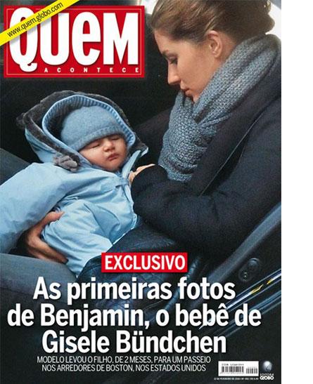 Первое фото новорожденного сына Жизель Бундхен