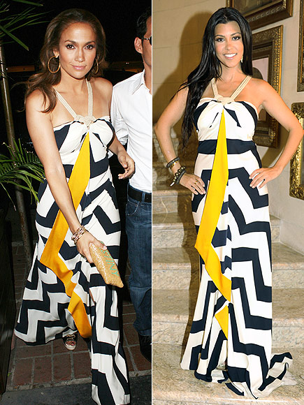 Fashion battle: Дженнифер Лопес и Кортни Кардашиан