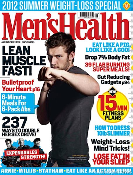 Алекс Петтифер в журнале Men's Health Великобритания. Август 2012