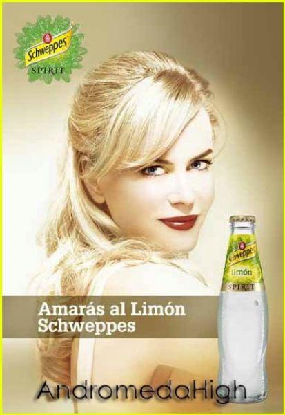 Постеры Schweppes с Николь Кидман