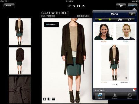 Приложение Zara + Connect! для iPad
