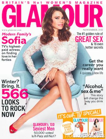 София Вергара в специальном выпуске Glamour Великобритания 2012