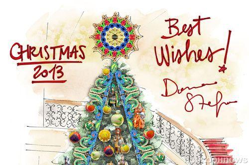Dolce & Gabbana создают рождественскую елку для отеля Claridge's
