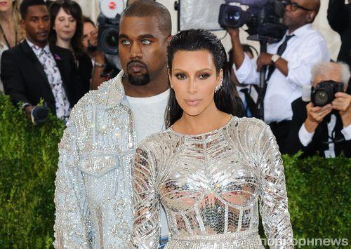 Vogue назвал Ким Кардашьян и Канье Уэста самой стильной парой Met Gala 2016