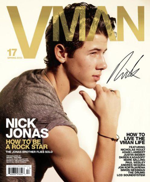 Ник Джонас в журнале VMAN. Весна 2010