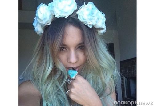 Ванесса Хадженс покрасила волосы в голубой цвет