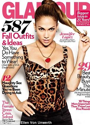 Дженнифер Лопес в журнале Glamour
