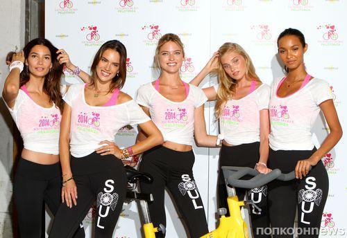 Ангелы Victoria's Secret на благотворительной велотренировке