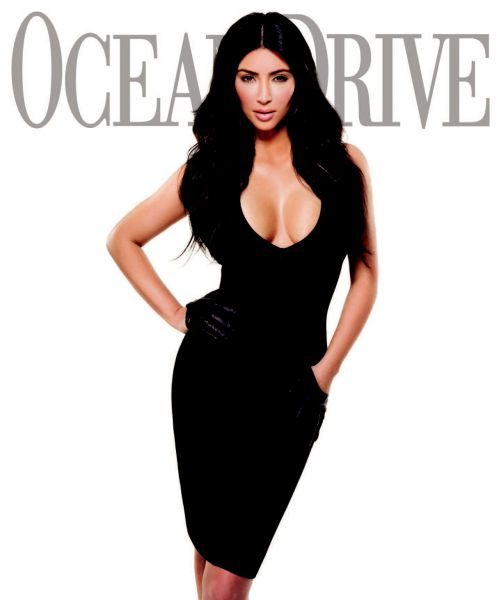 Ким Кардашиан в журнале Ocean Drive. Январь 2010