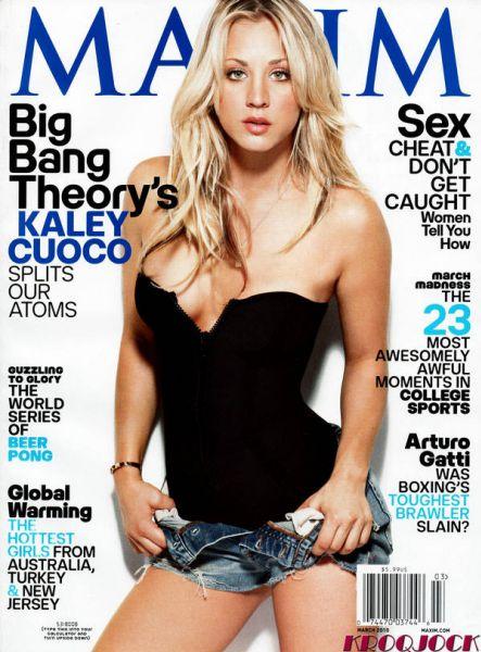 """Кейли Куоко ( Пенни из сериала """"Теория большого взрыва"""") в журнале Maxim US. Март 2010"""
