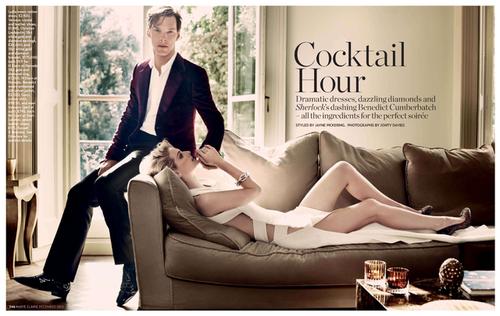 Новый Шерлок Холмс Бенедикт Камбербэтч в журнале Marie Claire UK. Декабрь 2010