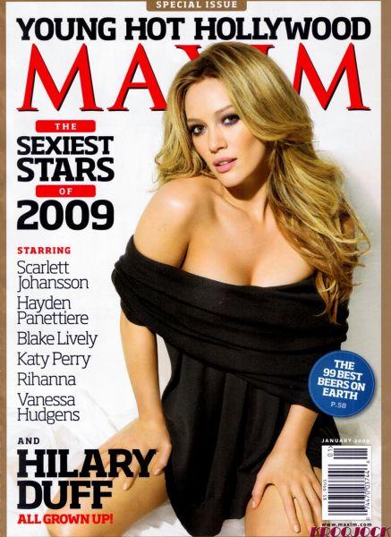 Хилари Дафф в журнале Maxim. Январь 2009