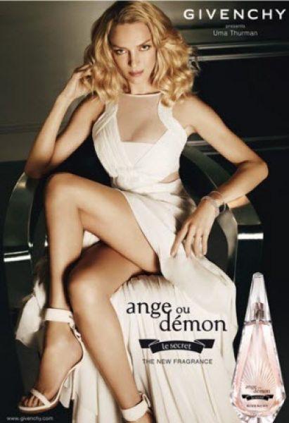 Ума Турман в рекламе туалетной воды Givenchy Ange ou Démon Le Secret