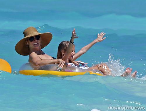 Хайди Клум с детьми на Багамах