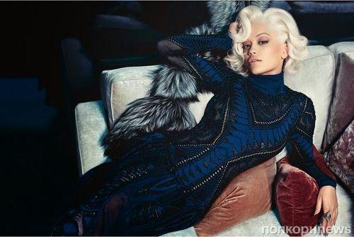 Рита Ора в рекламной кампании Roberto Cavalli. Осень / зима 2014