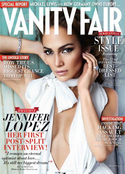 Дженнифер Лопес в Vanity Fair. Сентябрь 2011