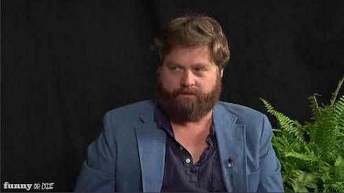 Зак Галифианакис: интервью с Брюсом Уиллисом «между двух папоротников»
