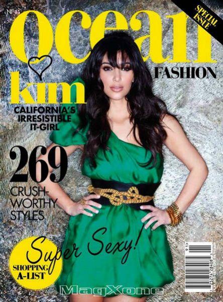 Ким Кардашян в журнале Ocean Fashion. Весна-Лето 2009