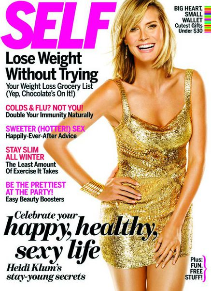 Хайди Клум в журнале SELF. Декабрь 2010