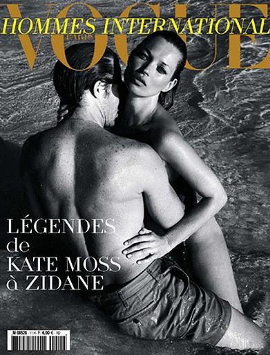 Кейт Мосс разделась для журнала Vogue Hommes