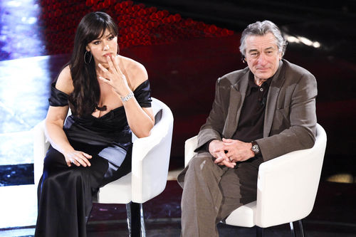 Моника Беллуччи и Роберт Де Ниро на фестивале в Сан-Ремо