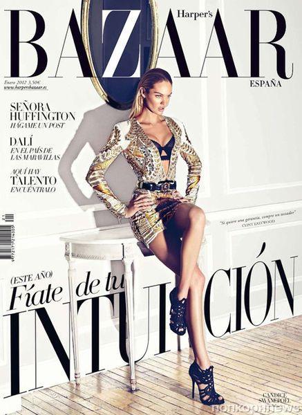 Кэндис Свэйнпоул в журнале Harper's Bazaar Испания. Январь 2012