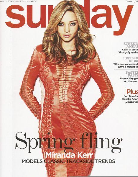 Миранда Керр в журнале Sunday Herald Sun. Ноябрь 2009