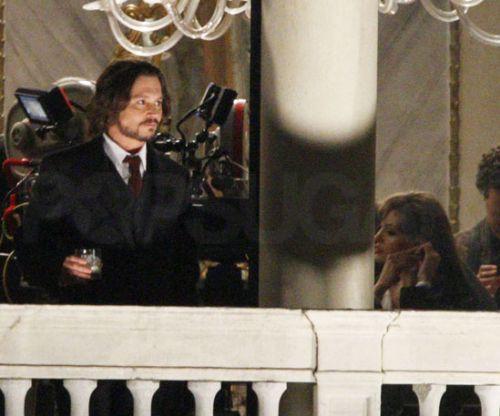 "Анджелина Джоли и Джонни Депп на съемках фильма ""Турист"""