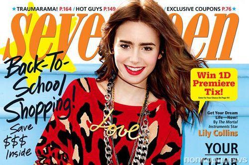 Лили Коллинз в журнале Seventeen. Сентябрь 2013