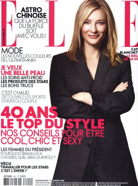 Кейт Бланшетт в журнале ELLE. Франция. Январь 2009