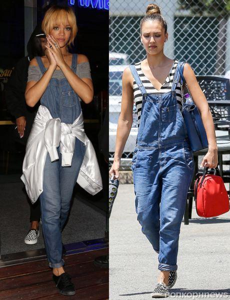 Fashion battle: Рианна и Джессика Альба