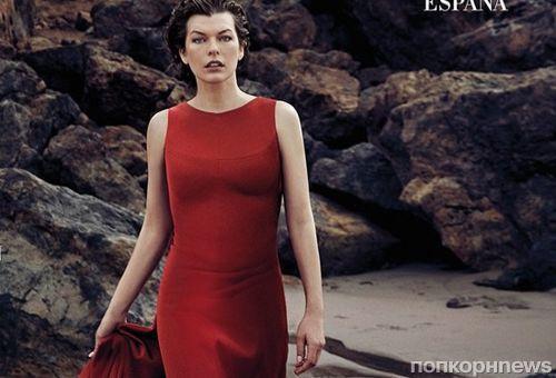 Милла Йовович украсила обложку испанского Harper's Bazaar