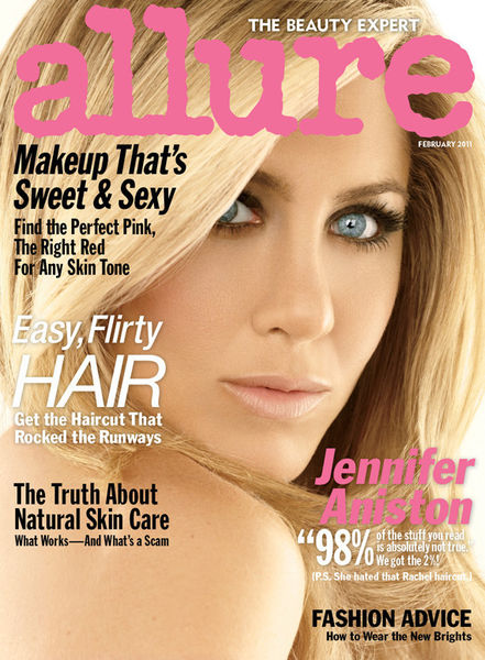 Интервью Дженнифер Энистон в журнале Allure. Февраль 2011