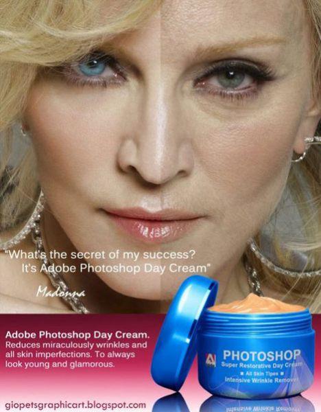 Дневной крем  Adobe Photoshop