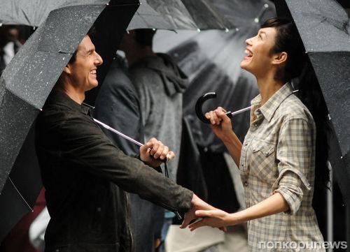 """Том Круз на съемках фильма """"Забвение"""""""