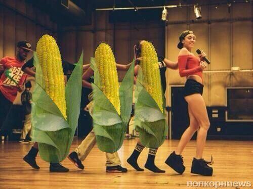 Видео: Майли Сайрус признаетcя в любви кукурузе