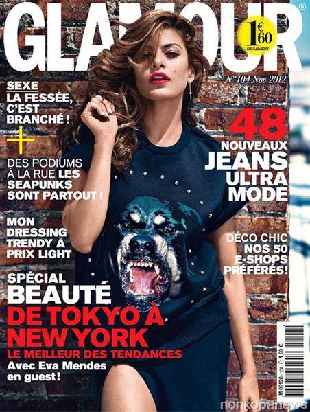 Ева Мендес в журнале Glamour Франция. Ноябрь 2012