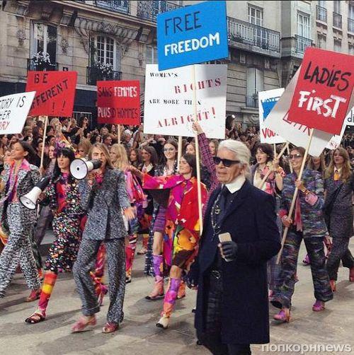 Модный показ новой коллекции Chanel. Весна / лето 2015