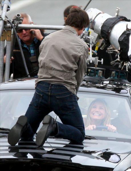 Кэмерон Диаз и Том Круз на съемках фильма «Уичита»