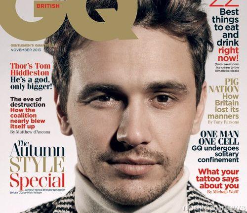 Джеймс Франко в журнале GQ Великобритания. Ноябрь 2013
