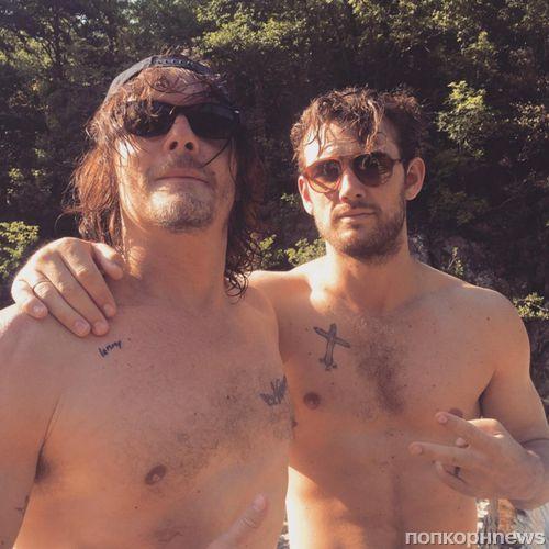 Алекс Петтифер и Норман Ридус отдыхают в Тоскане