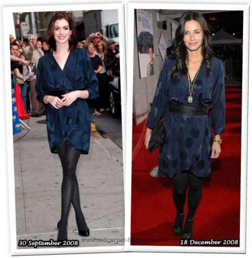 Fashion battle: Энн Хэтэуэй и Кортни Кокс