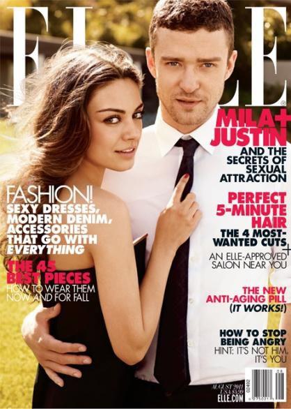 Интервью Милы Кунис и Джастина Тимберлейка в журнале Elle. Август 2011